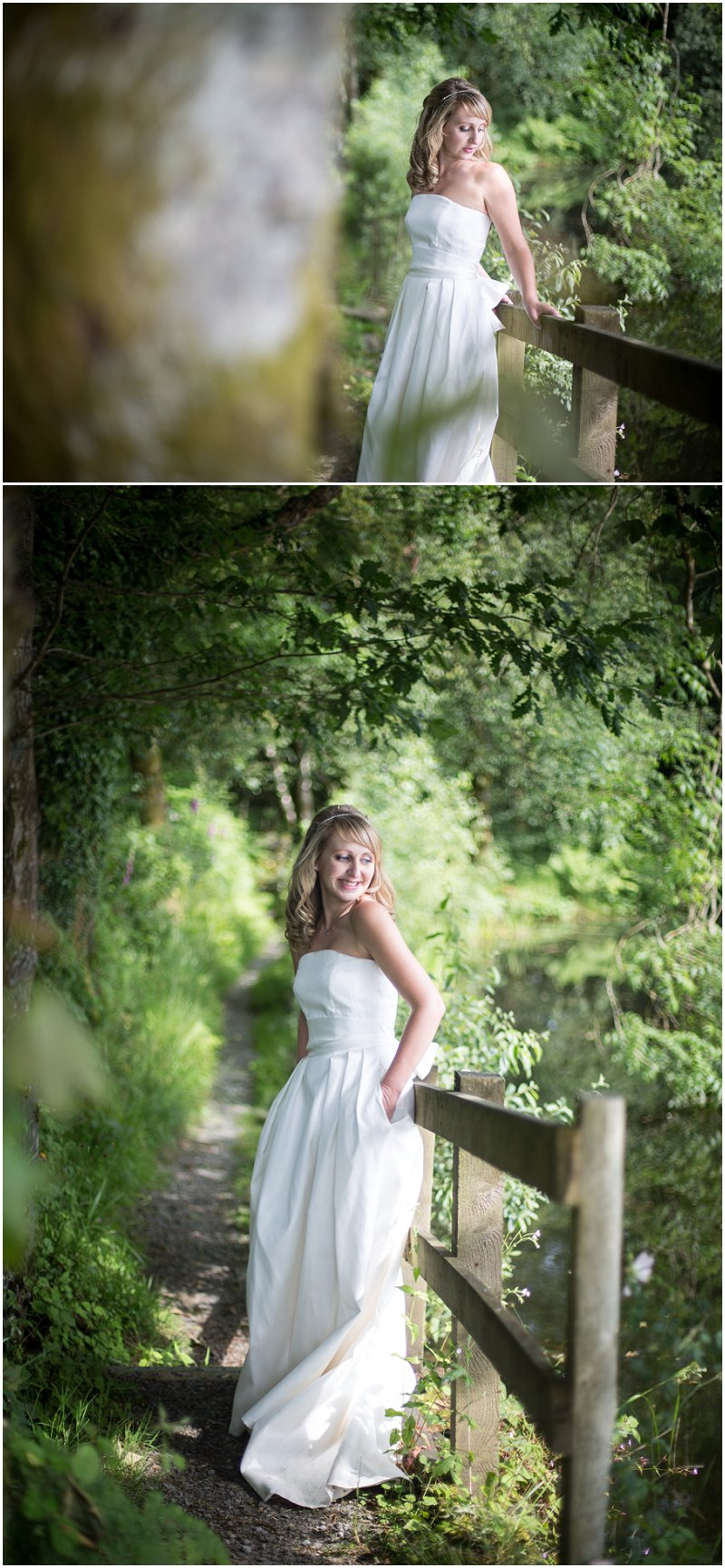 Stunning bride in the grounds of Linthwaite House Wedding Photographer