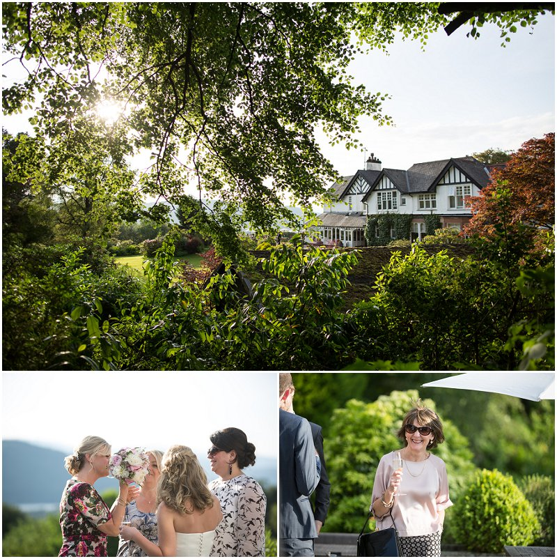 Sunny Linthwaite House Hotel, Cumbria Wedding Photographer