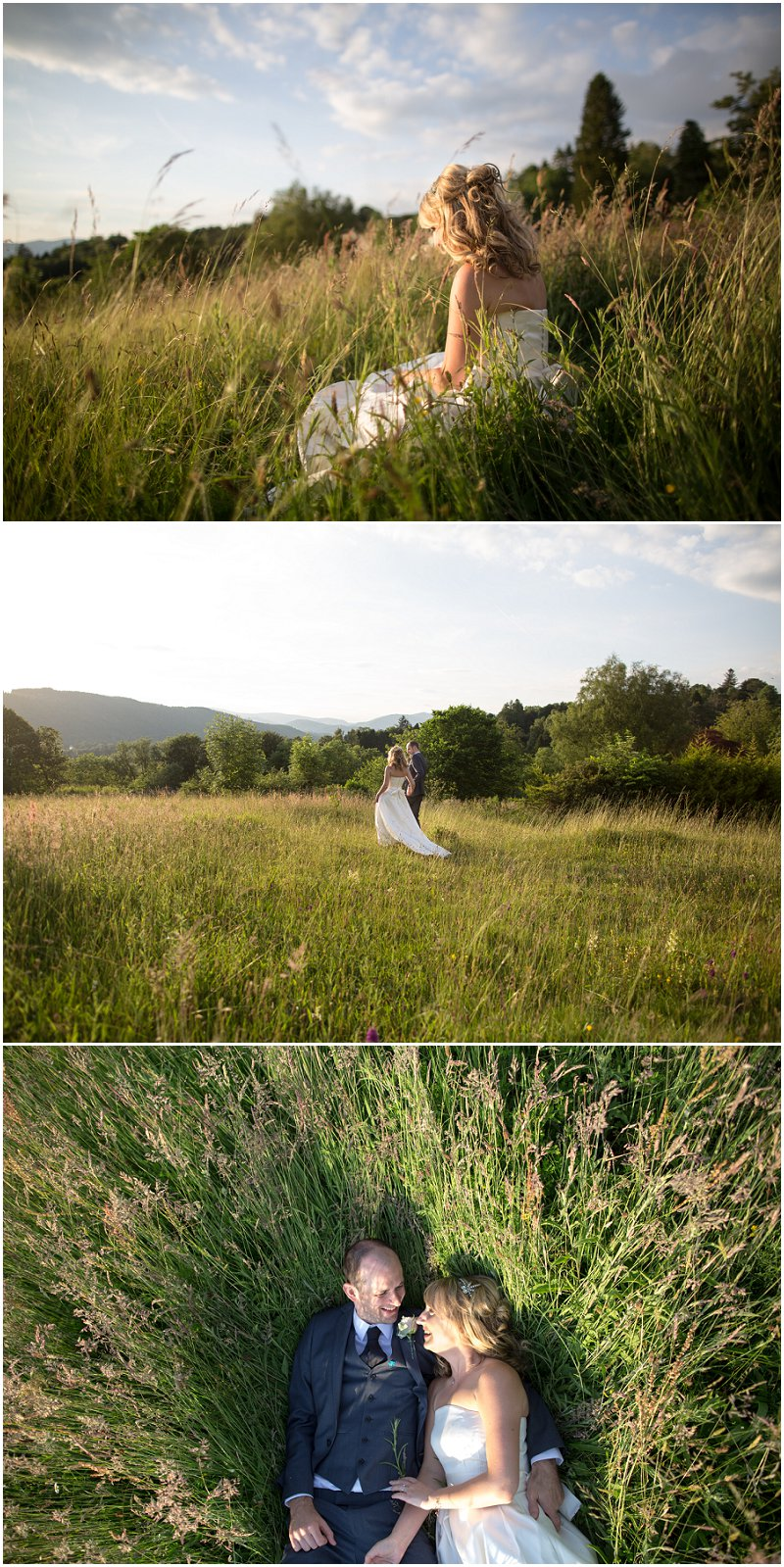 Stunning wild fields at Linthwaite House Hotel, Cumbria