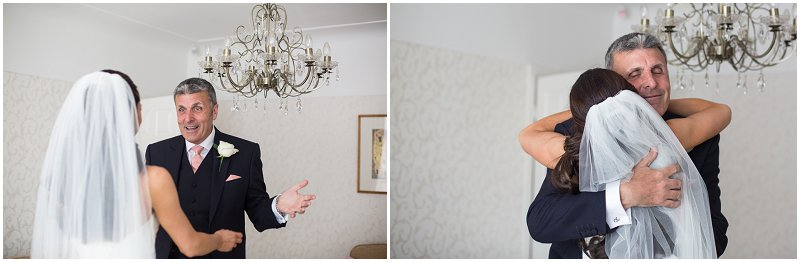 Father of the Bride sees his little girl for first time as bride