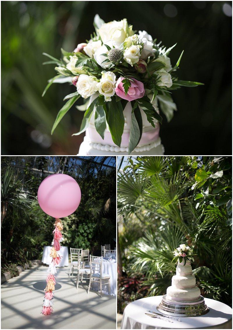 Beautiful Wedding cake at Sefton Palm House, Liverpool Wedding Photographer