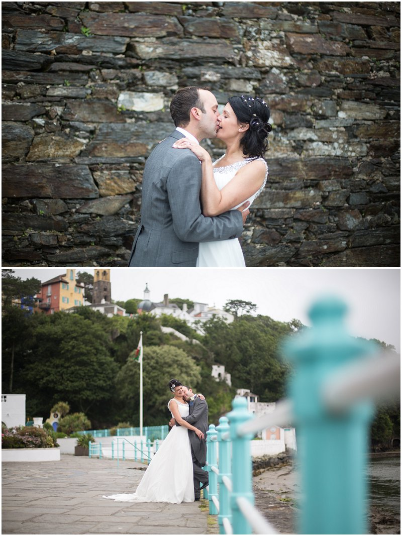 Beautiful couple at Portmeirion Wedding