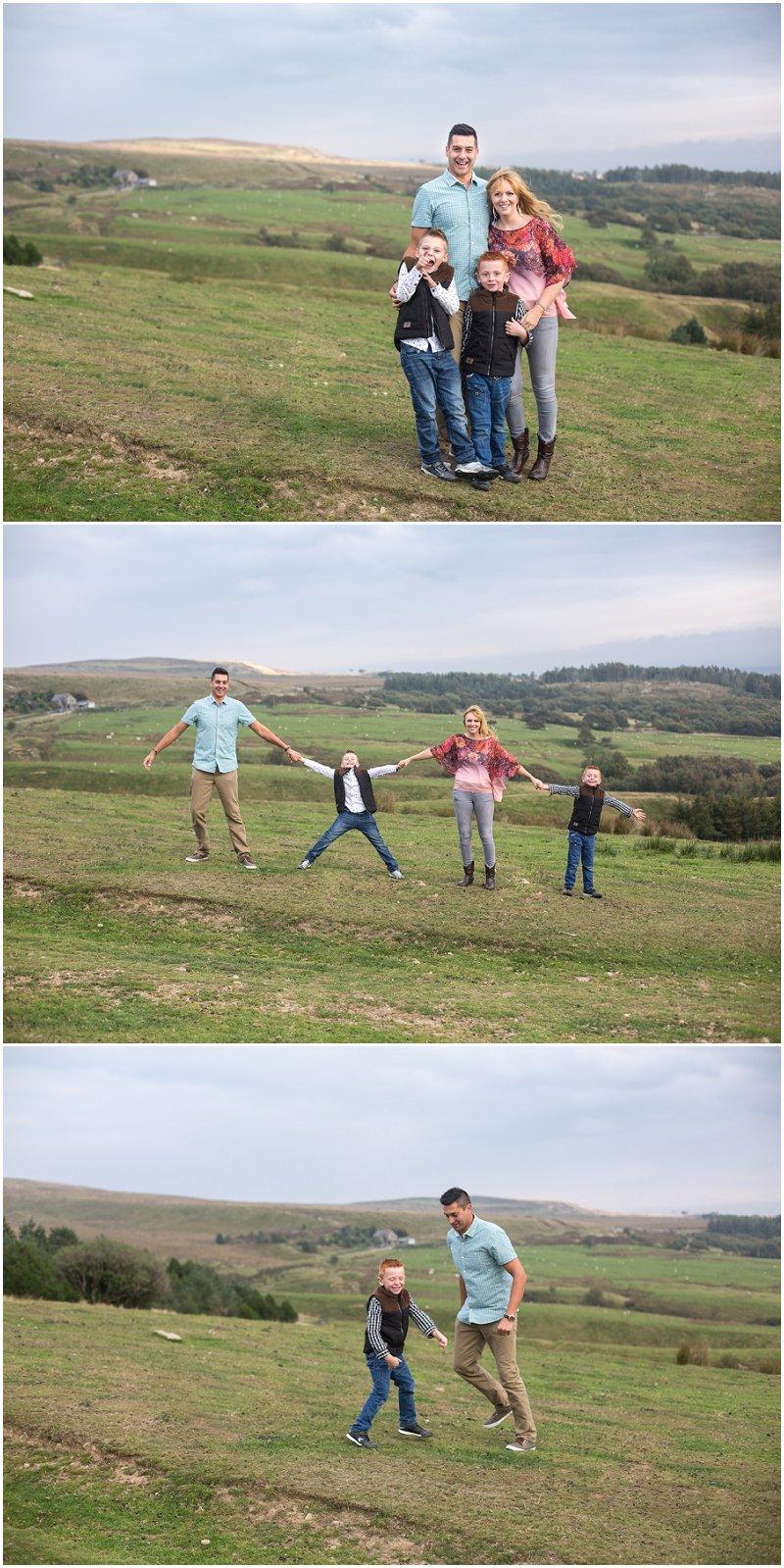 Fun Family Photo Shoot at Rivington Park Lancashire
