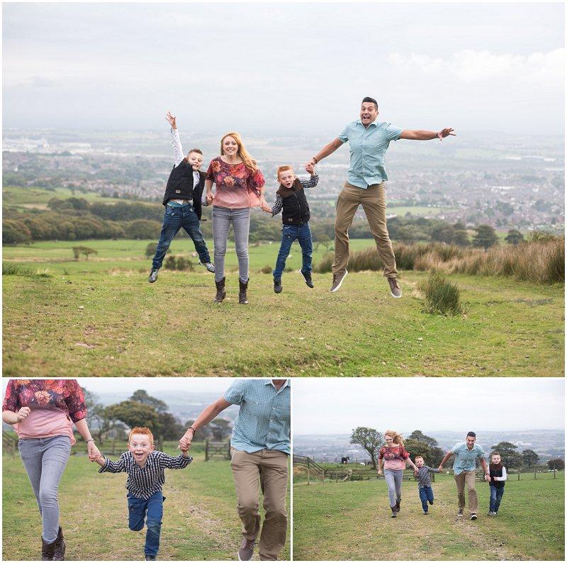 Fun family photo shoot at Chorley, Lancashire