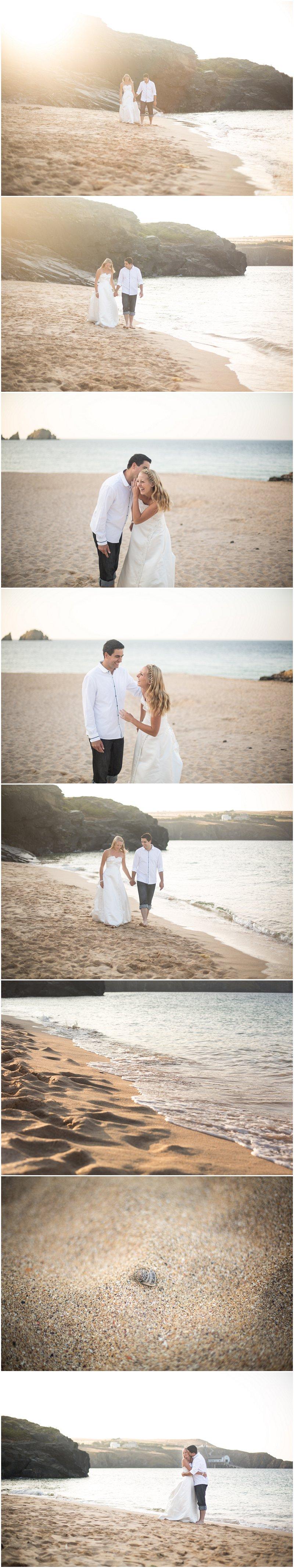 West Country Wedding Photographer Cornwall Bride & Groom on Beach