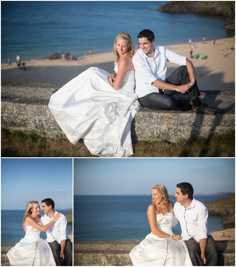 Stunning Beach scenery during Wedding style shoot Cornwall