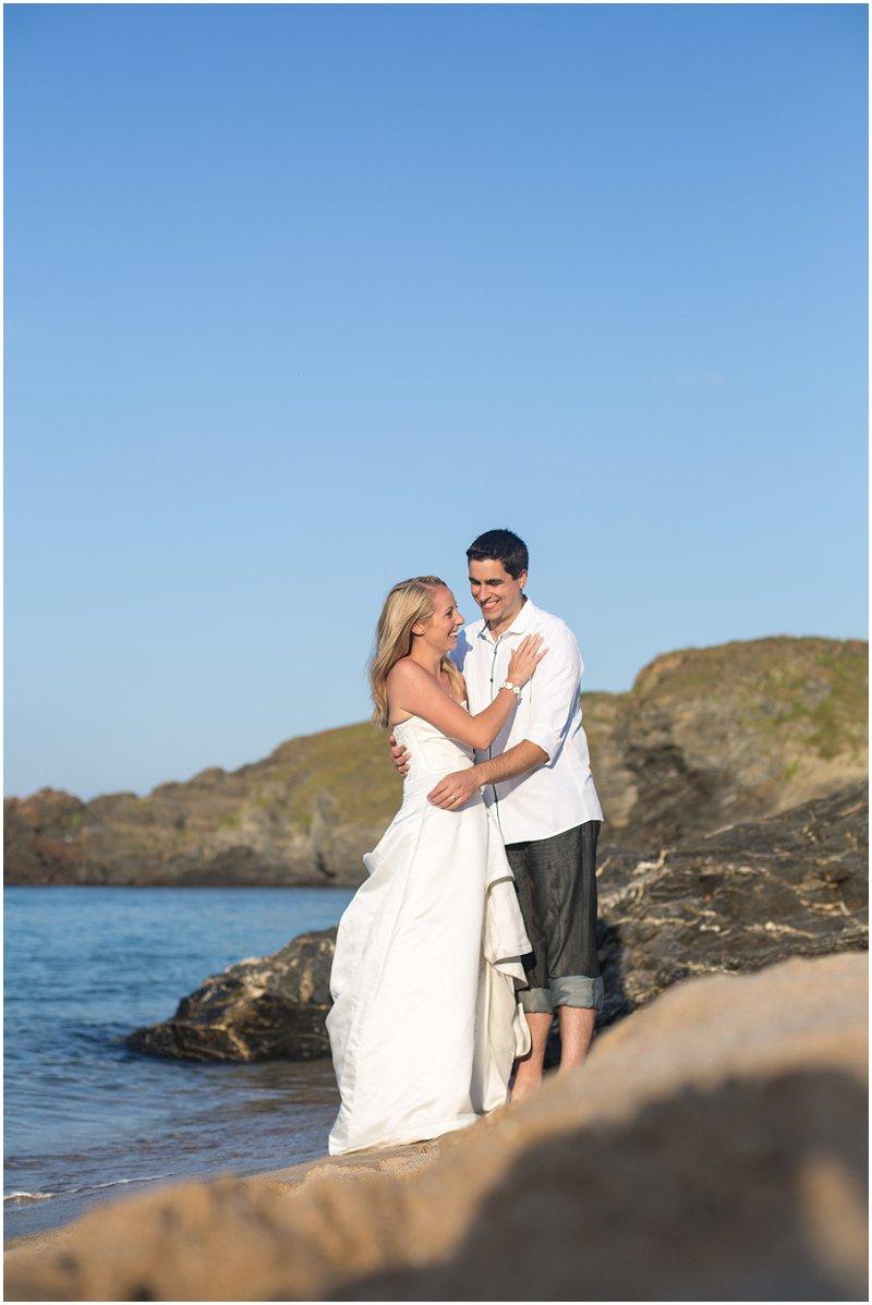 Beautiful bride and groom at Cornwall Wedding Photography shoot
