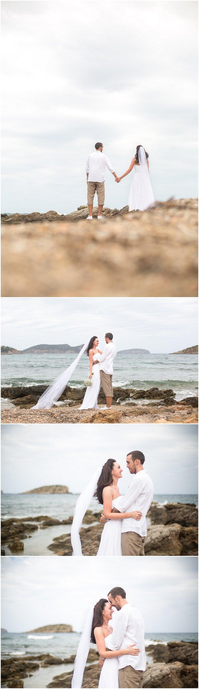 Wedding Photography Bride and Groom on Ibiza Beach, Jacaranda