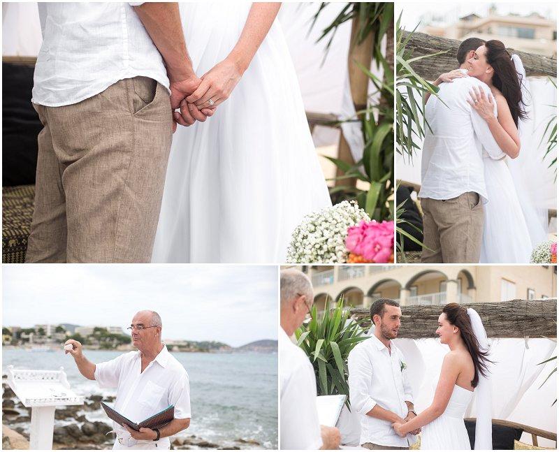 Beautiful Wedding Ceremony on the Beach at Jacaranda Ibiza Wedding Photography