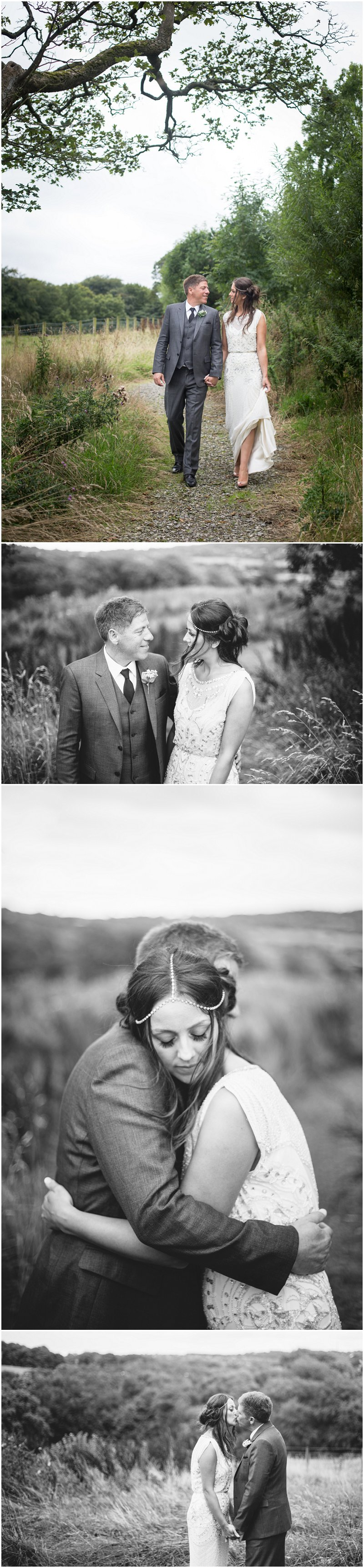 Bride and groom during portraits at Stanley House, Mellor