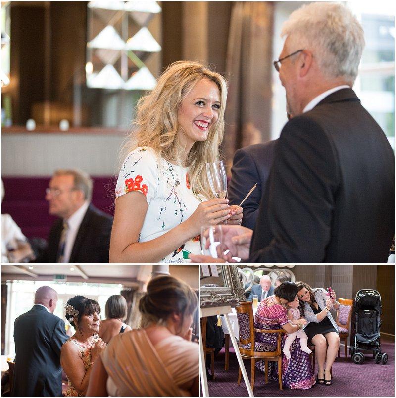 Wedding Guests enjoying reception