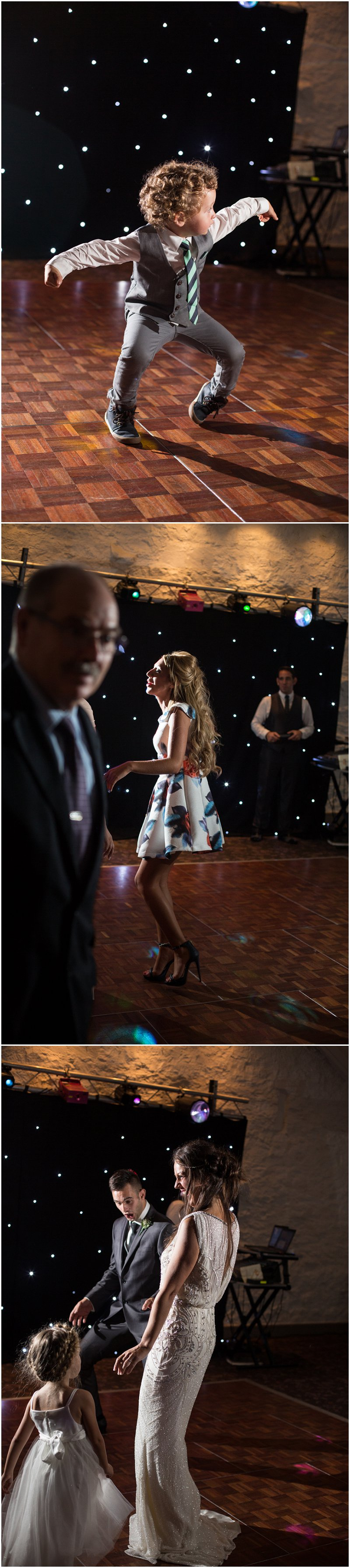 Guests dancing at Stanley House Wedding