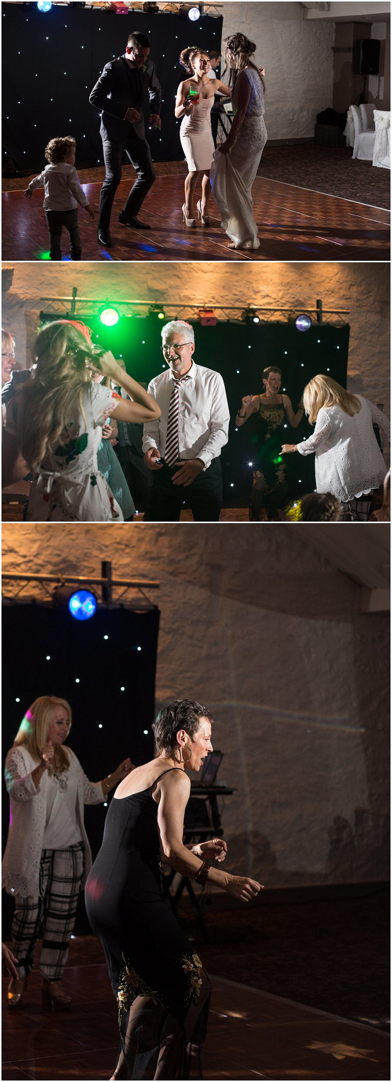 Dance floor fun at wedding reception