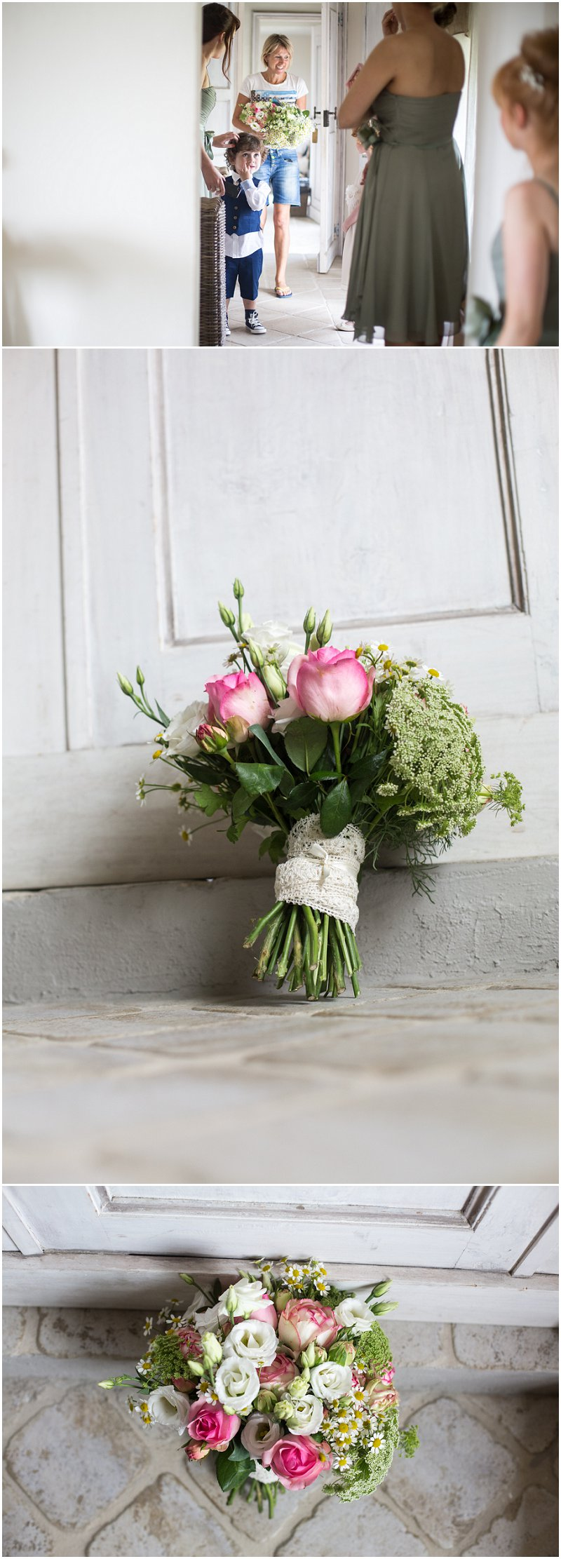 Wedding flowers arrive at La Villa, Piedmont Italy