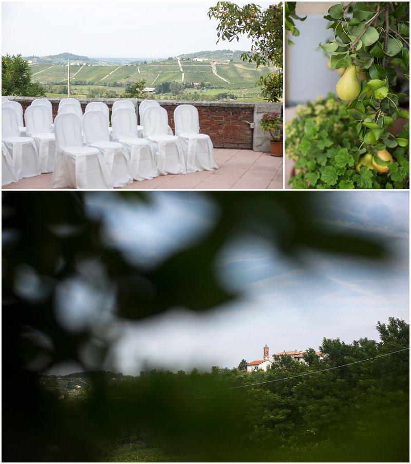 La Villa ceremony details in Piedmont Italy
