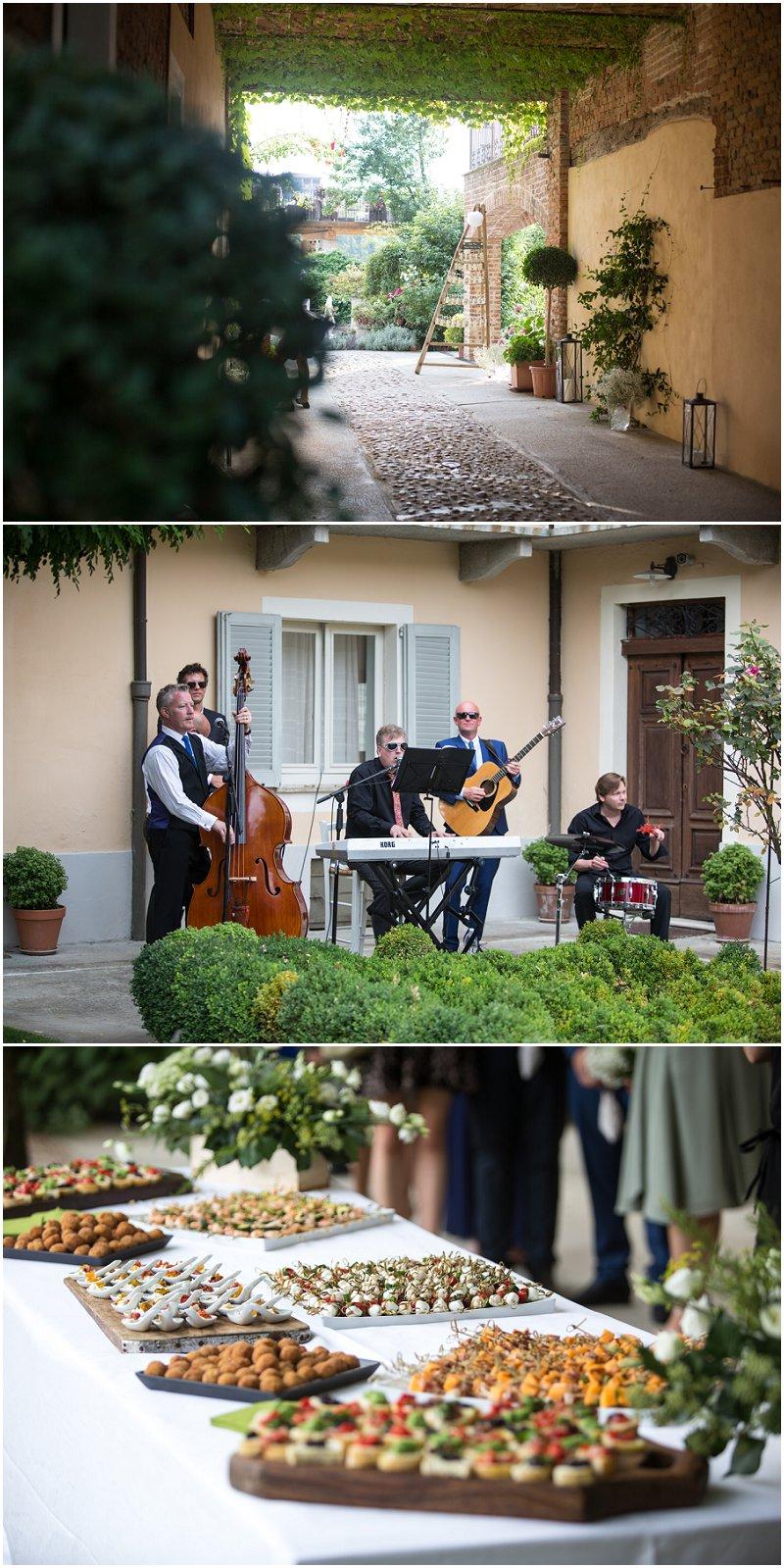 Reception entrance at La Villa Piedmont, Italy