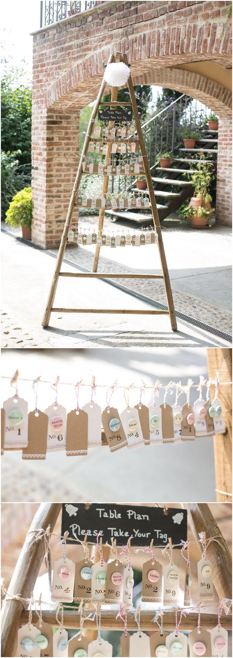 Wedding Table Plan at La Villa Italy | Destination Wedding