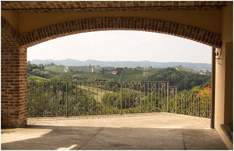 View from La Villa balcony, Piedmont, Italy