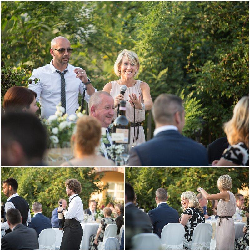 Speeches at wedding ceremony at La Villa