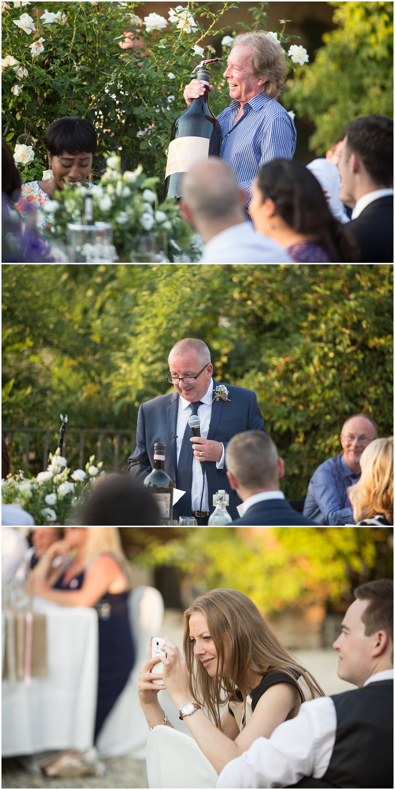 Father of the bride's speech during wedding ceremony in Italy