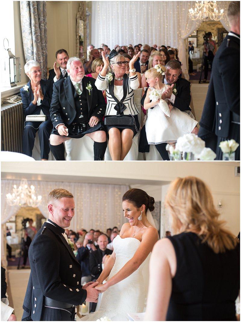 Wedding Ceremony at Eaves Hall Lancashire