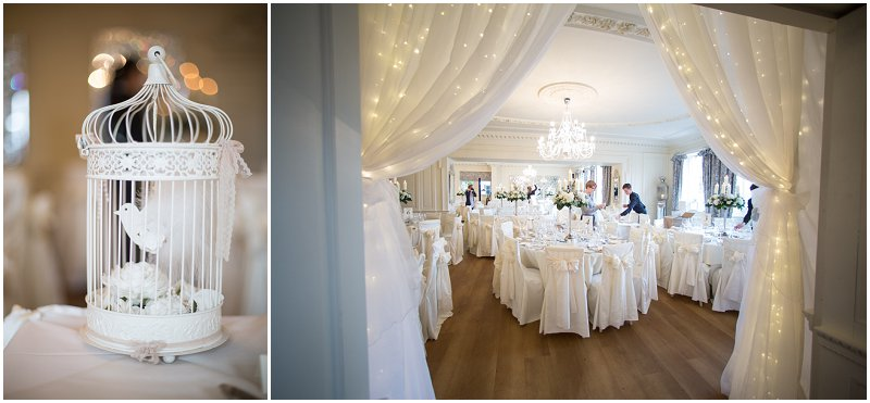 Beautiful Room details during wedding breakfast