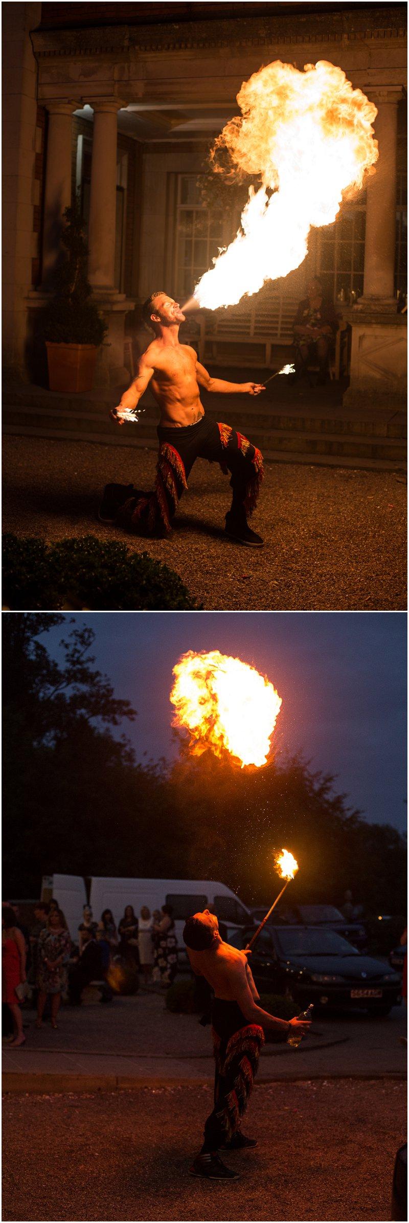 Amazing fire performer at wedding ceremony Lancashire