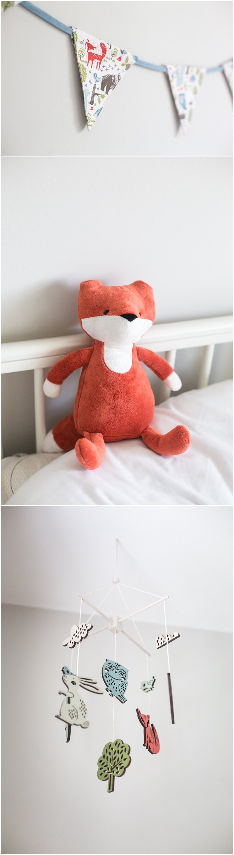 Fox details for baby nursery
