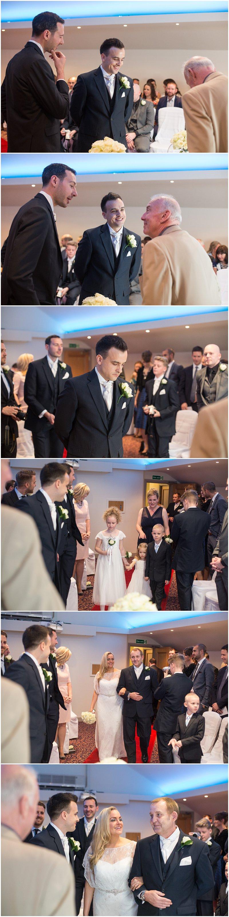 Wedding ceremony at Red Hall Bury
