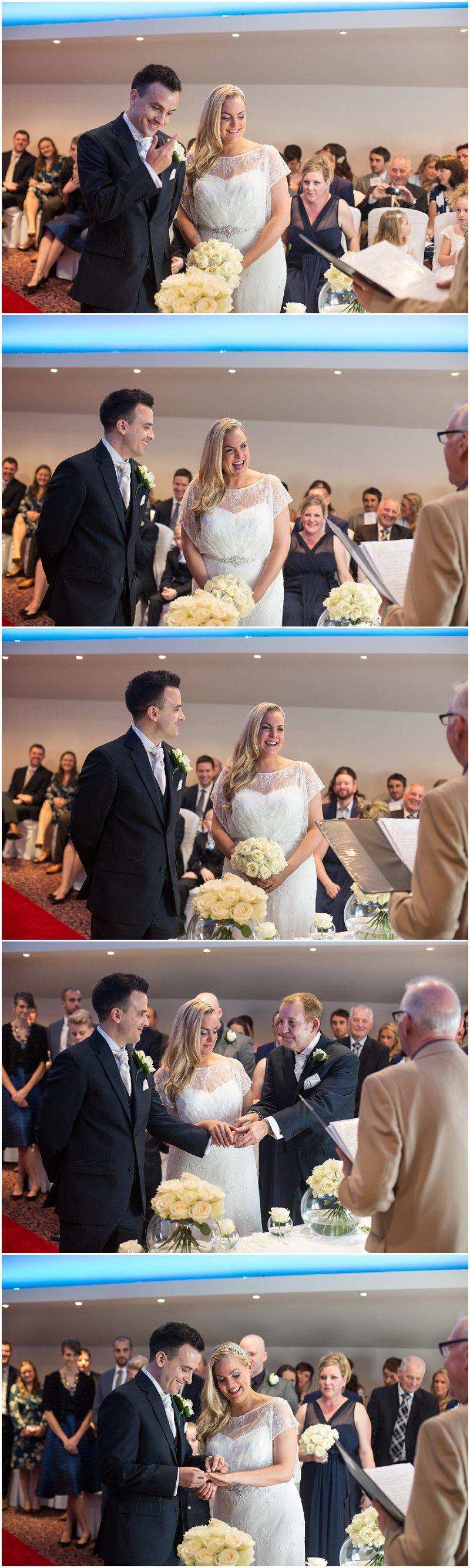 Wedding ceremony photography at Red Hall bury
