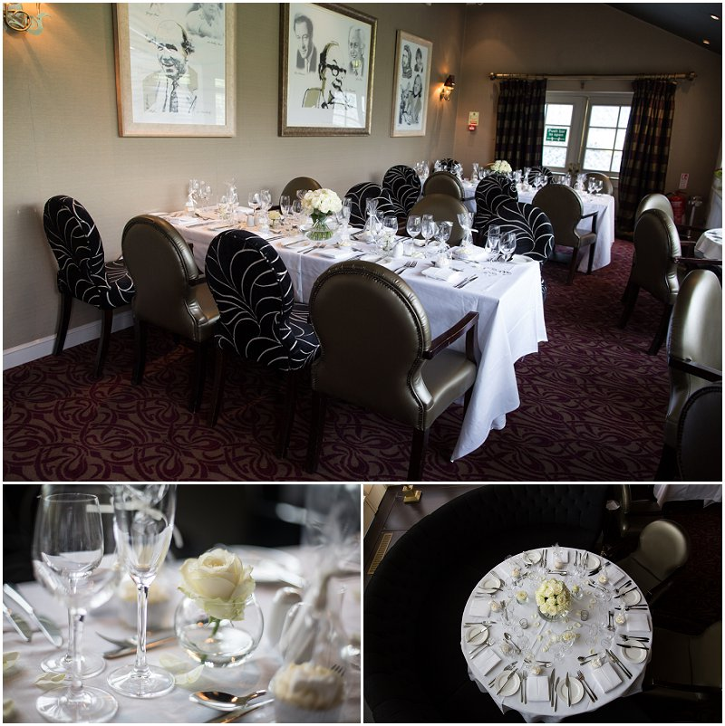 Table decor at Red Hall Hotel, Bury