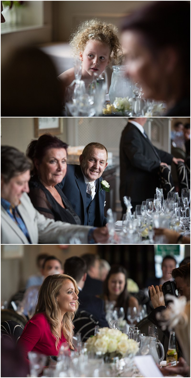 Wedding guests enjoying wedding breakfast in Bury