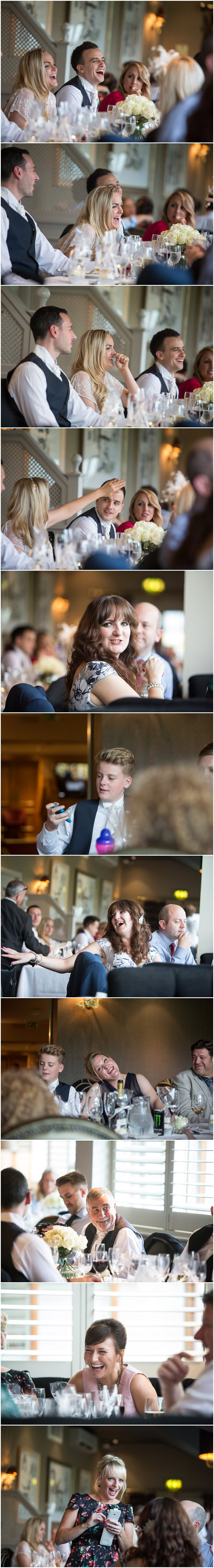 Guests enjoying evening meal at Red Hall Hotel Bury Photographer