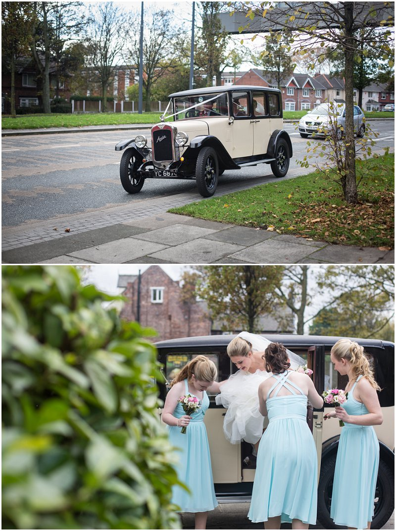 Bride arriving at Chester Ceremony