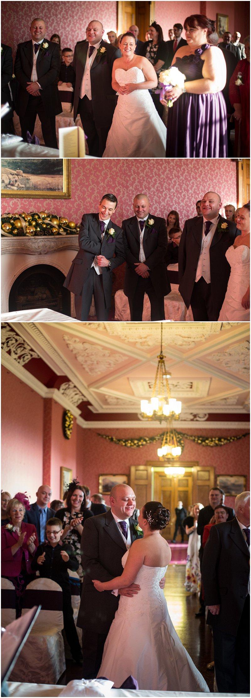 Ceremony at Haigh Hall   Wedding Photographer