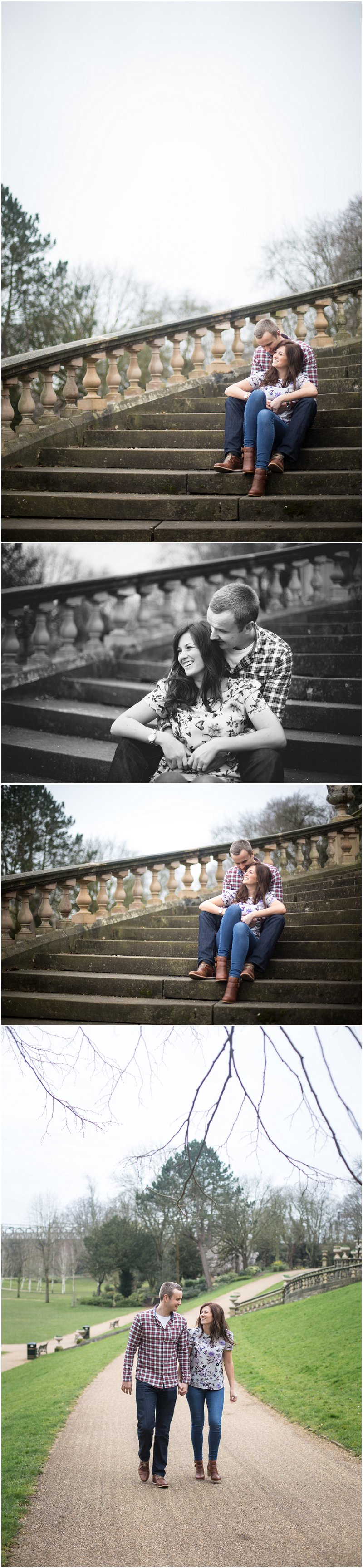 Engaged couple enjoying pre wedding shoot preston
