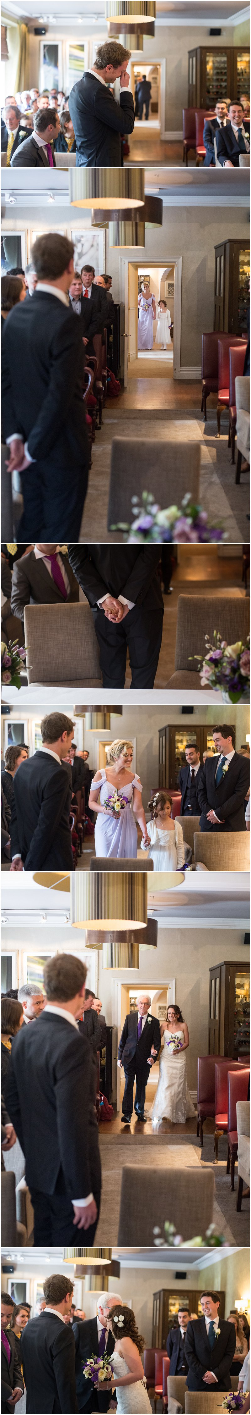 Wedding ceremony at Linthwaite House Hotel, Cumbria