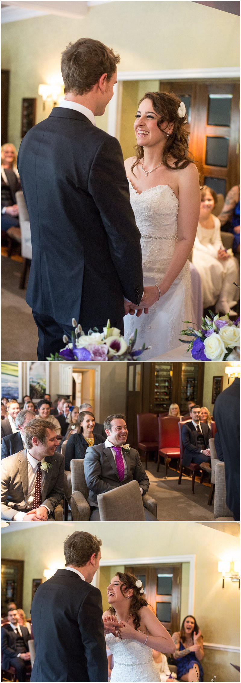 Wedding Ceremony at Linthwaite Hotel Cumbria