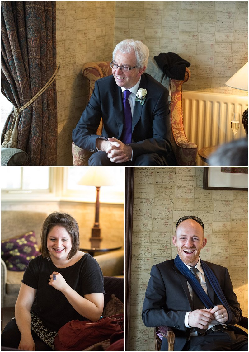 More wedding guests at Linthwaite Wedding in Cumbria