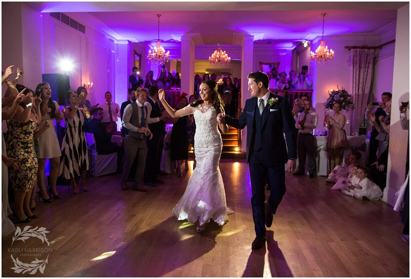 Bride and Groom on Dance floor at West Tower Wedding Photographer Liverpool