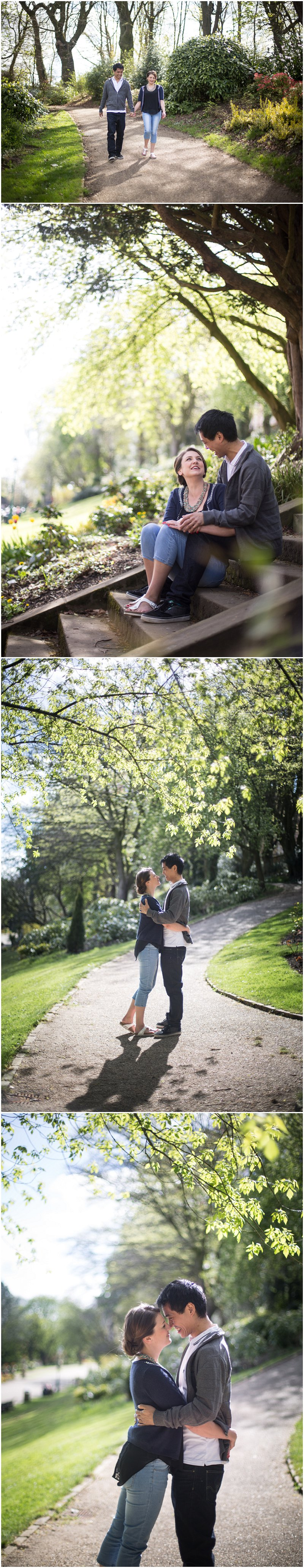 Couple in Avenham Park on gorgeous spring day photo shoot