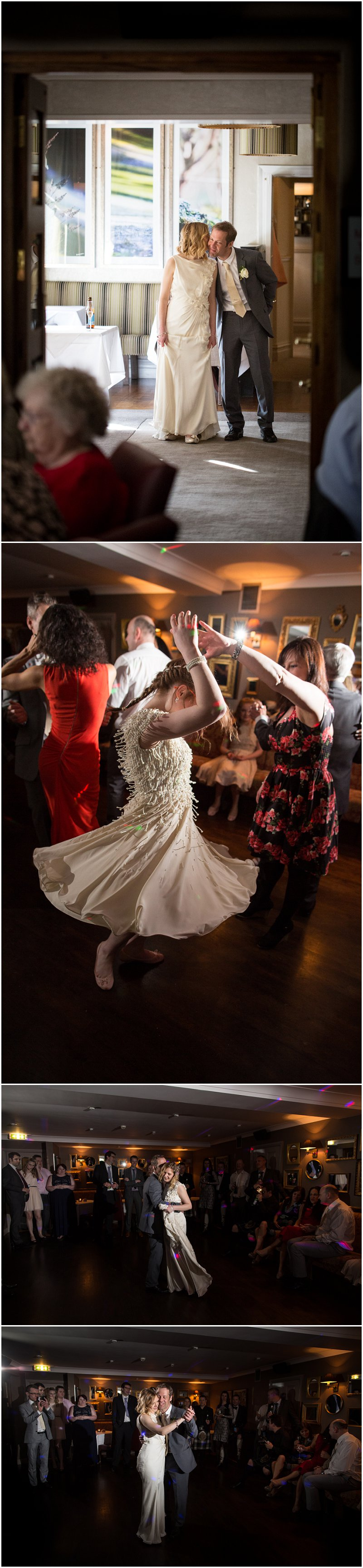 Evening reception ceremony and first dance wedding cumbria