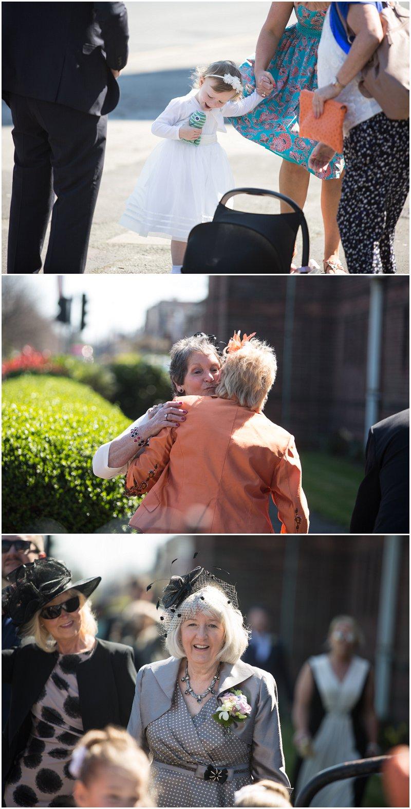 Wedding guests enjoying the sunshine at Liverpool Wedding