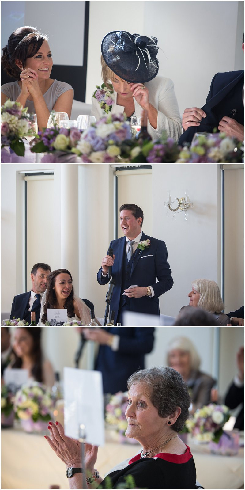Emotional speeches at West Tower wedding