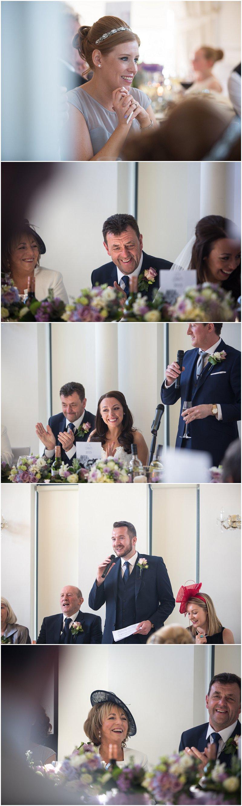 Speeches at West Tower Wedding