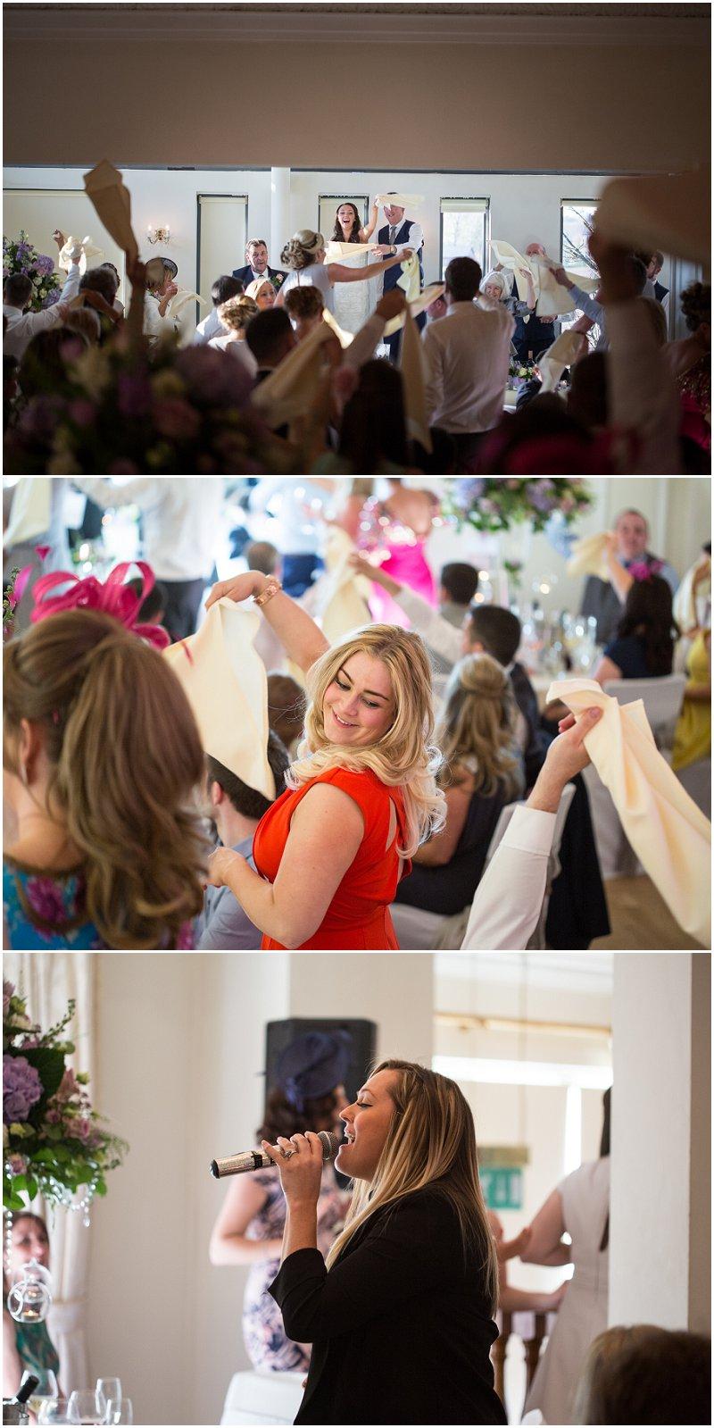 Wonderful Singing waiters at West Tower wedding venue