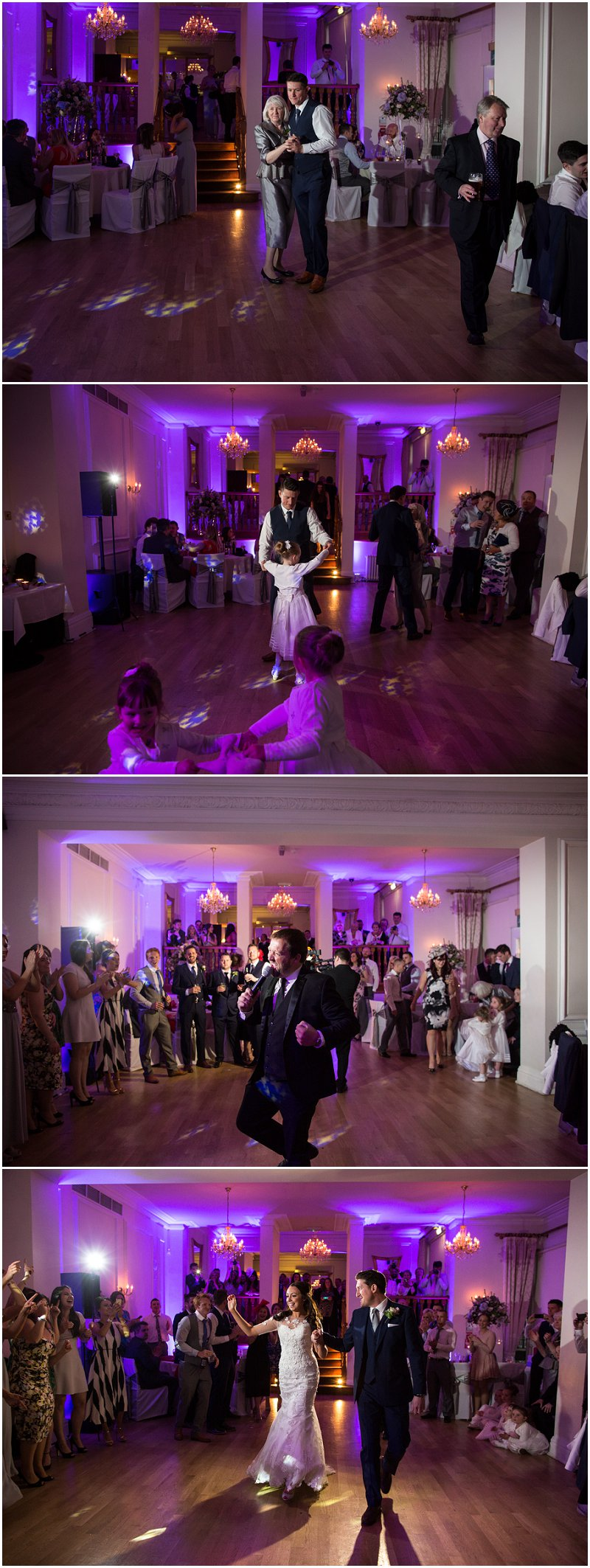 First dance at West Tower wedding venue
