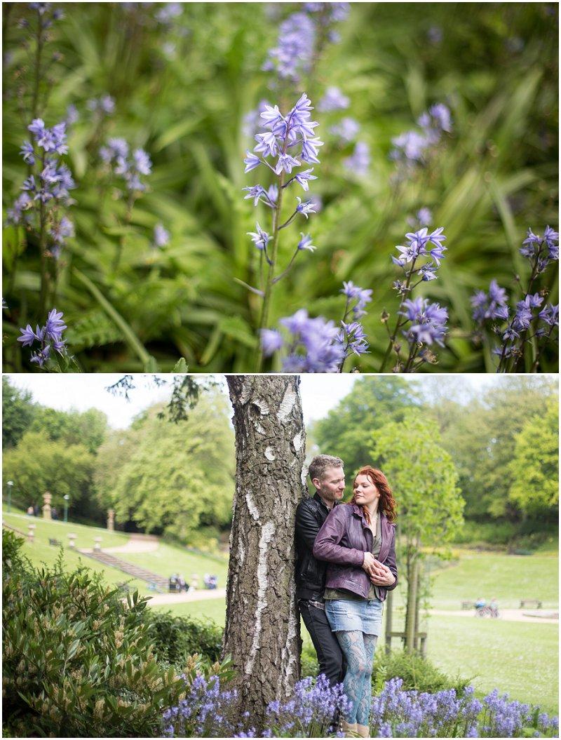 Gorgeous Bluebells on Photo shoot in Preston Avenham Park Lancashire