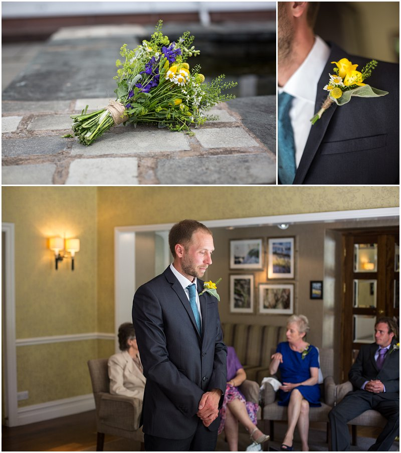 Wedding ceremony at Linthwaite House Hotel Windermere