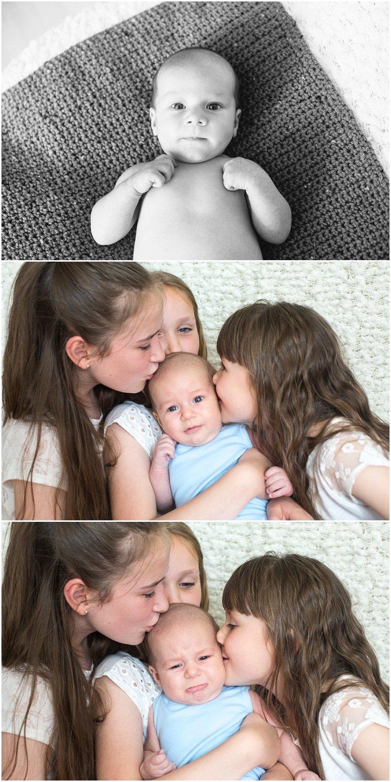 Family photos during baby shoot Preston in Lancashire